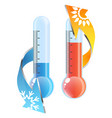 thermometer sun and snowflake air conditioner vector image vector image