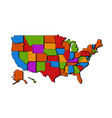 usa map with states blank map usa united vector image