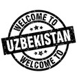 welcome to uzbekistan black stamp vector image vector image