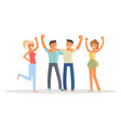 happy group of students vector image