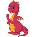 cute dragon cartoon vector image
