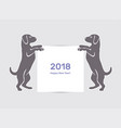 happy new year 2018 dog vector image