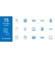 15 keyboard icons vector image vector image