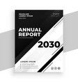 abstract black and white annual report business vector image vector image