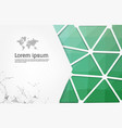 abstract green geometric design template with vector image vector image