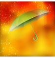 Abstract umbrella and raindrops EPS 10 vector image