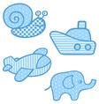 Applique prints for baby boys set vector image vector image