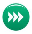 arrow icon green vector image
