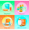 baby food design concept vector image vector image
