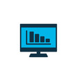 bar charts icon colored symbol premium quality vector image