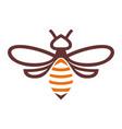 bee abstract logo icon vector image vector image