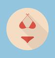 Bikini flat icon vector image vector image
