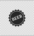 bottle cap with beer word icon isolated vector image vector image