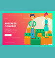 business concept businessman and businesswoman vector image