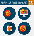 business goal concept vector image vector image