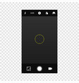camera screen mobile cellphone vector image vector image