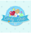 candy shop emblem multicolor emblem graphics vector image