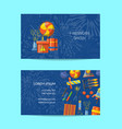 cartoon pyrotechnics business card template vector image vector image