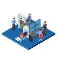 checking baggage and people security service vector image vector image