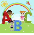 Children with ABC vector image