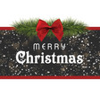 christmas card with dark glitters background vector image vector image