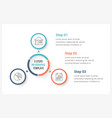 circle infographics with three elements vector image vector image