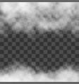 clouds white fog smog on transparent background vector image