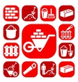 color bricklayer icons vector image vector image