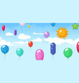 colorful balloon festival birthday graduating vector image