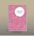 cover of diary grunge pink with text bubble vector image vector image