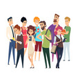different people crowd isolated man woman vector image vector image