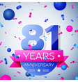 Eighty one years anniversary celebration on grey vector image vector image