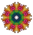 Ethnic round ornamental pattern vector image