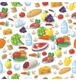 Everyday food products seamless pattern vector image vector image