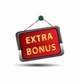 Extra Bonus Icon Internet button on red background vector image vector image