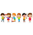 fanny cartoon kids isolated vector image vector image