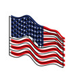 flag united states of america waving side colorful vector image vector image