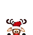 Funny Christmas Reindeer on white background vector image vector image