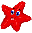 funny starfish cartoon posing vector image