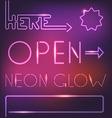 Glowing neon elements vector image vector image