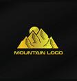 gold mountain logo template vector image