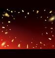 golden confetti design vector image vector image