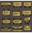 Golden prices vector image vector image