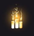 graphic image candles vector image