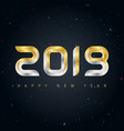happy new year 2019 background with gold and vector image vector image