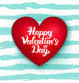 happy valentines day cute heart vector image vector image