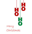 hohoho red and green text on white christmas vector image vector image