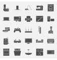 Home electrical appliances silhouettes icon set vector image