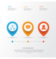 human icons set collection of partnership vector image vector image