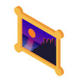 image icon isometric style vector image vector image